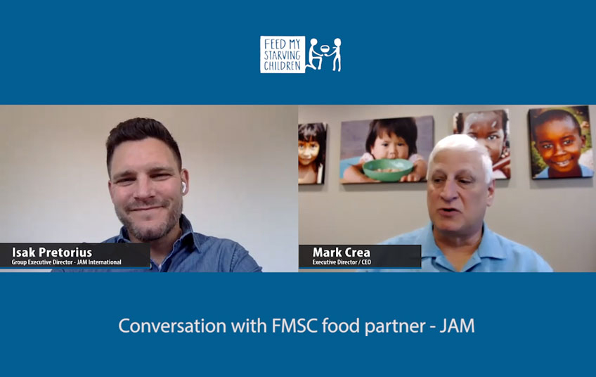 A Zoom call with FMSC's CEO and the director of JAM International