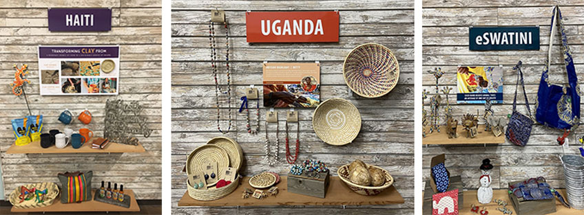 collections of artisan-made items such as mugs, purses, metal art, and more