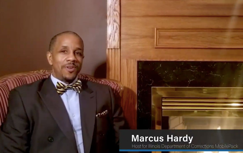 A still shot from a video interview with Marcus Hardy