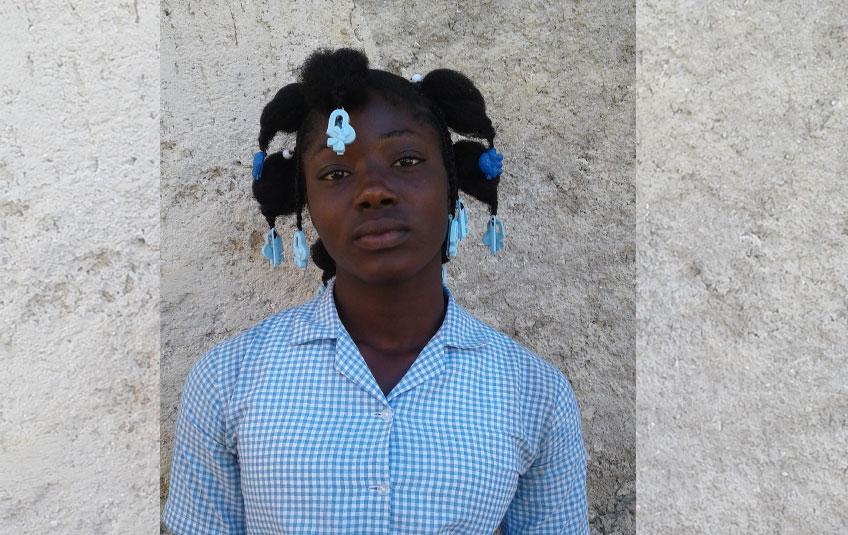 a teenage Haitian girl