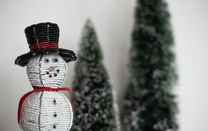 Beaded Snowman