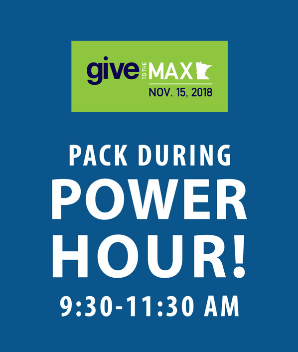 Pack during Power Hour! 9:30-11:30 am