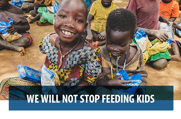 we will not stop feeding kids