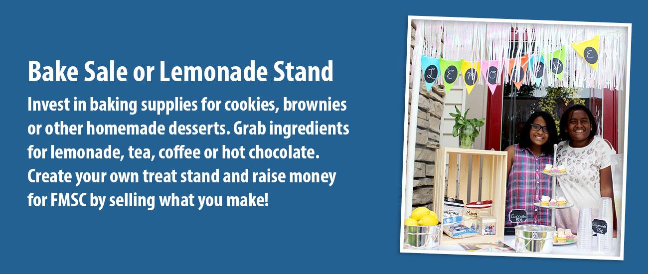 Bake Sale or Lemonade Stand