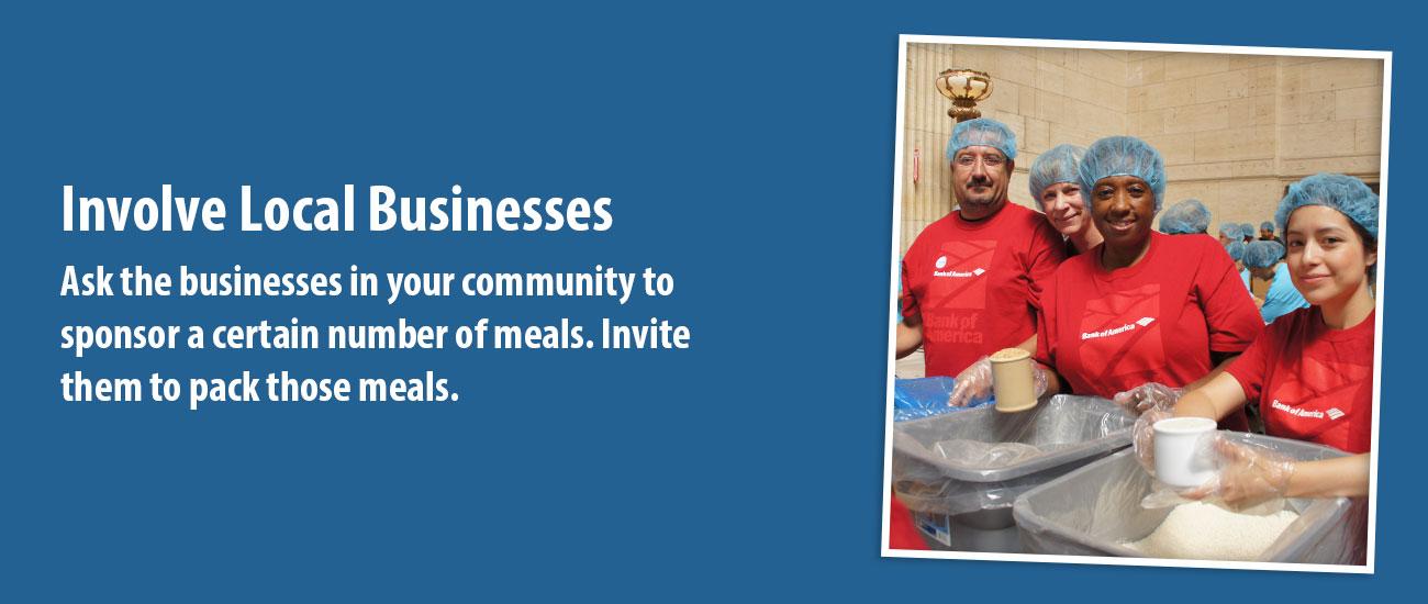 Involve Local Businesses