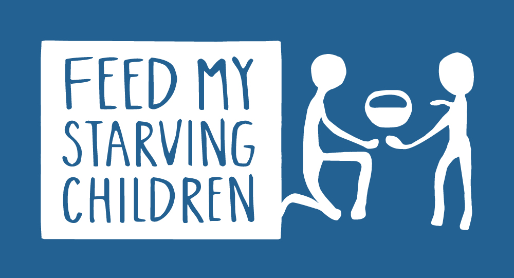 Feed My Starving Children White Logo