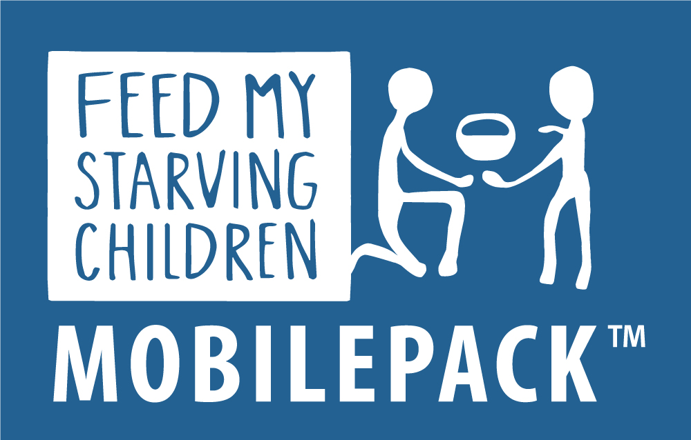 Feed My Starving Children White MobilePack Logo