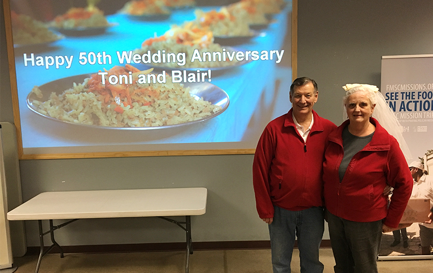 50 Years of Marriage Celebrated in the Packing Room